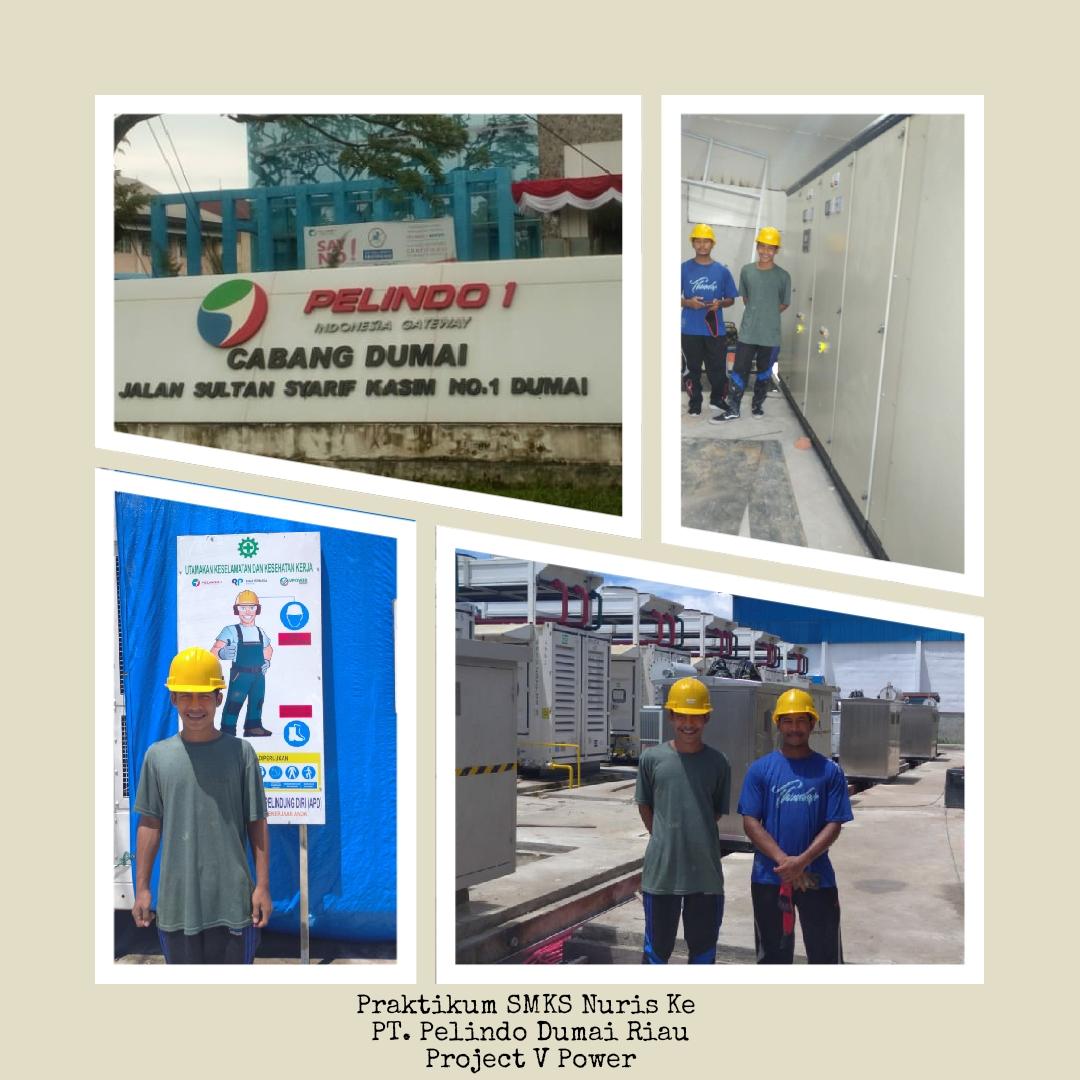 6 Siswa berprestasi SMKS Nuris Jurusan tenaga listrik, praktikum ke PT. Pelindo Dumai Riau Project V Power