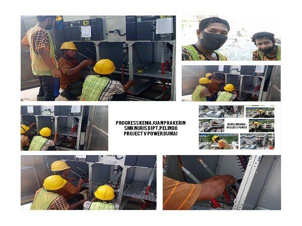 Progres kemajuan prakerin Siswa SMK Nuris di Dumai PT Pelindo projec V Power