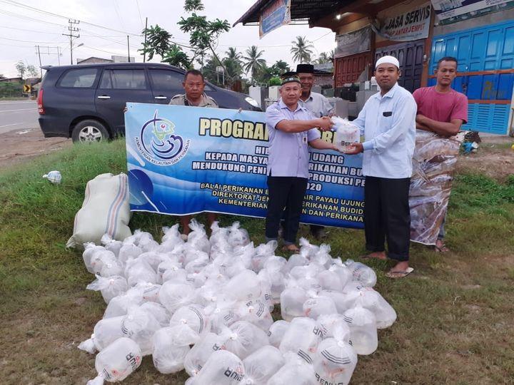Dayah NURIS (Nurul Islam) terima Benih Udang Vaname Dan Pakan dari DPR RI Fraksi Demokrat